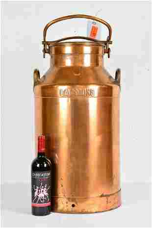 Very Large Copper Milk Can
