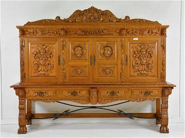 Spanish Colonial Style Carved Cupboard
