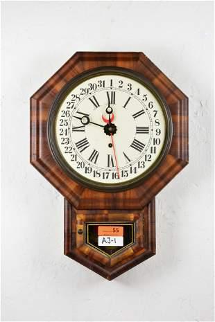 American Wall Clock with Key & Pendulum