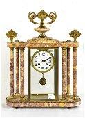 Marble & Brass Mantle Clock