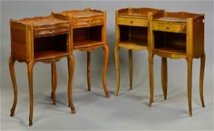 2 Pair European Single Drawer Nightstands