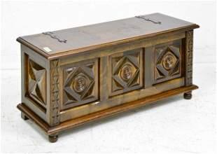 Louis XIV Style Oak Coffer / Trunk
