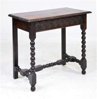 Carved Oak Table From England