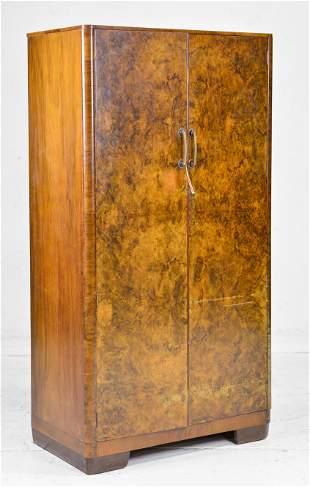 English Walnut Double Door Robe / Cupboard