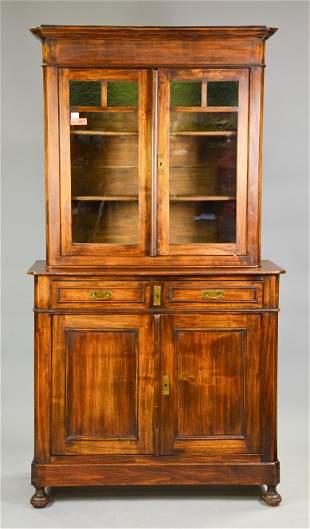 European Oak Bookcase / Cupboard
