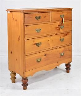Victorian Pine 5 Drawer Chest