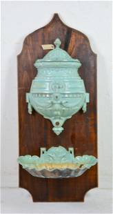 Very Large Painted Water Font / Lavabo