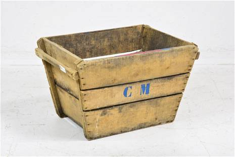 Large Wood Crate / Bucket #2