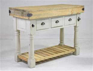 Farm House 3 Drawer Painted Kitchen Island