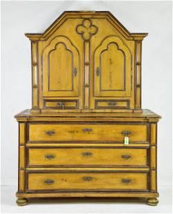 Victorian Pine Large Cupboard c.1880