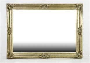 Very Large French Style Silver Framed Mirror