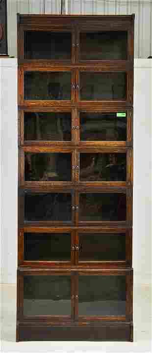 British Oak 7 Stack Lawyers Bookcase