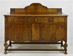 British Carved Oak Server / Sideboard