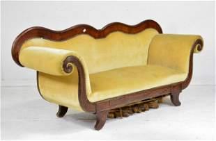 European Mahogany Upholstered Sofa