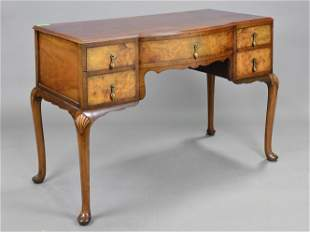 British Walnut Queen Ann Desk / Hall Table