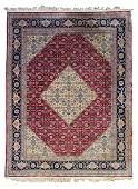 Handmade Wool pile Red Room Size Rug - Romania