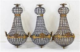 3 Empire Style Chandeliers