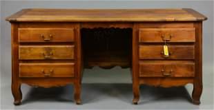 French Oak 6 Drawer Desk