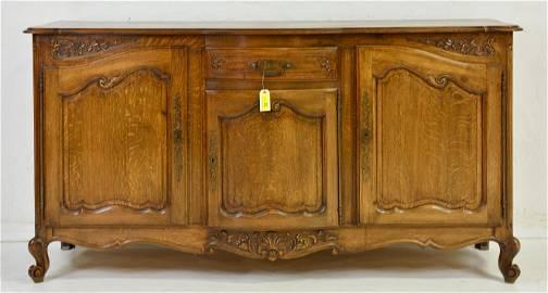 Louis XV Style Oak Server / Sideboard