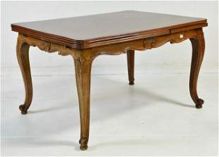 Louis XV Style Draw Leaf Dining Table