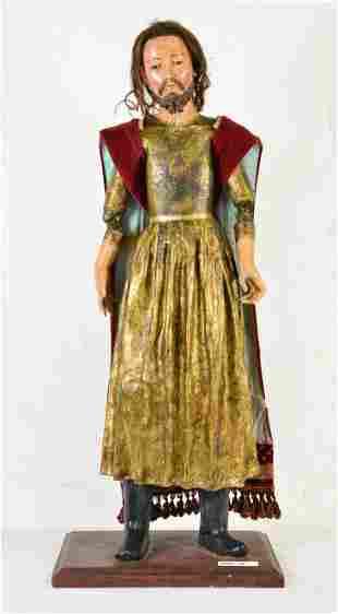 Antique Santos Figure - Saint Joseph -19 C