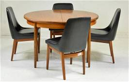 Round Mid Century Dining Table By G-Plan  & 4 Chairs