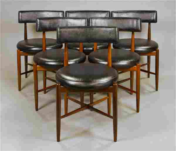 6 Mid Century Modern Round Dining Chairs By G-Plan