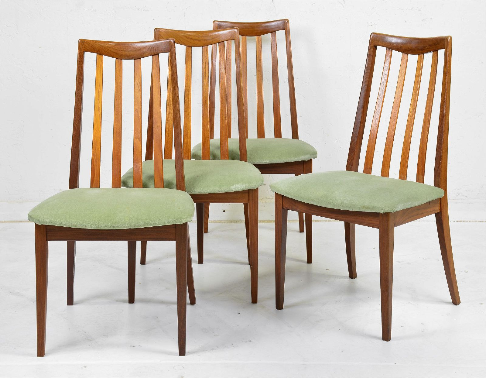 4 High Back Mid Century Dining Chairs - G-Plan Fresco