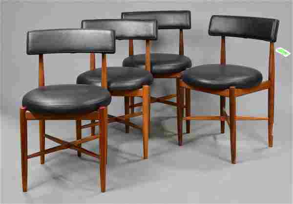 4 Mid Century Modern Round Dining Chairs By G-Plan