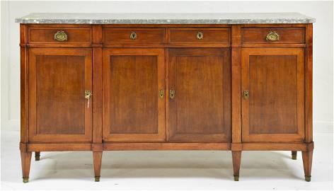 Louis XVI Style Marble Top Server / Sideboard