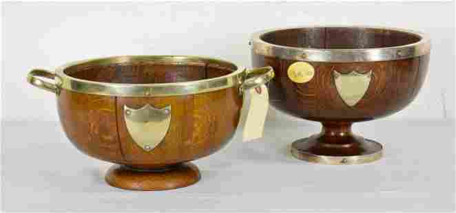 2 British Oak Trophy Bowls