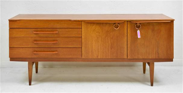 Mid Century Modern Sideboard - Beautility - Ring Pulls