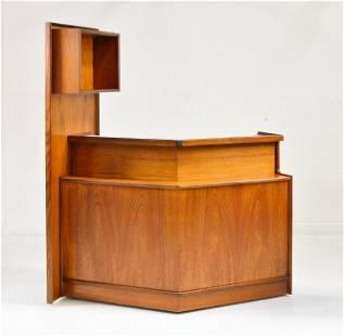 Mid Century Modern Teak Home Bar By Turnidge