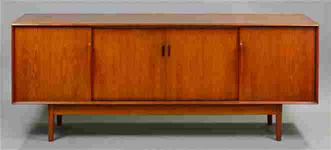 Danish Modern Style Sliding Door Sideboard
