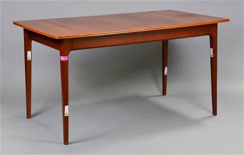 Mid Century Rectangular Dining Table - Pop Up Leaf