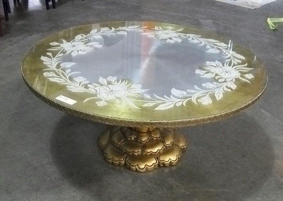 4: Circular Jansen Style Pedestal Cocktail Table