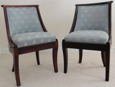 17: Pr. 19th C. Regency Uph. Mahogany Tub Chairs