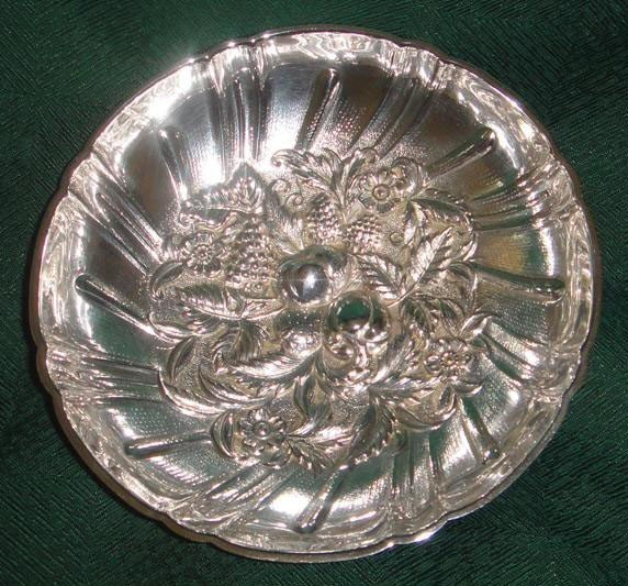 24: S. Kirk & Son Sterling Repousse Berry dish