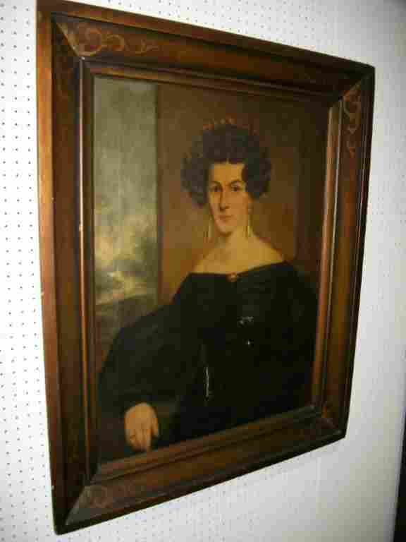 19th C American Oil on Canvas Portrait