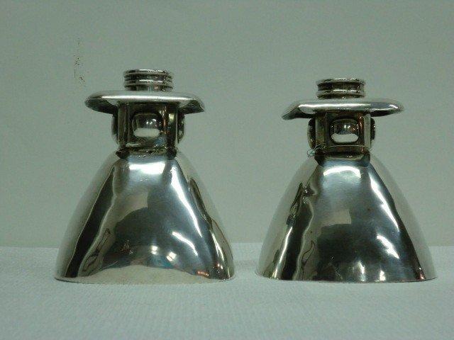 7: Pair Spratling Sterling Art Deco Candleholders