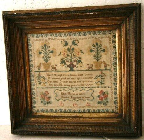 15: Framed British Sampler Dated 1842
