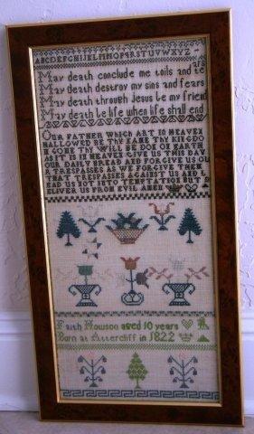 17: Framed British Sampler Created in 1832