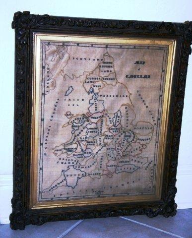 18: 1859 Sampler/Map of English Counties