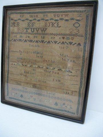 19: Geo III Alphabet Sampler dated 1794