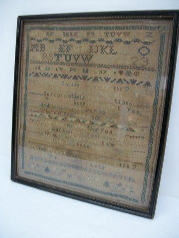 19: Geo III Alphabet Sampler dated 1794 - 2