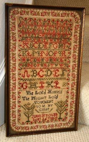 20: Geo III Alphabet Sampler dated 1794