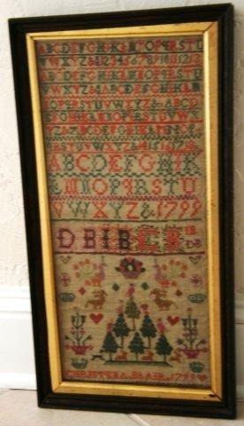 21: Geo III Alphabet Sampler dated 1799