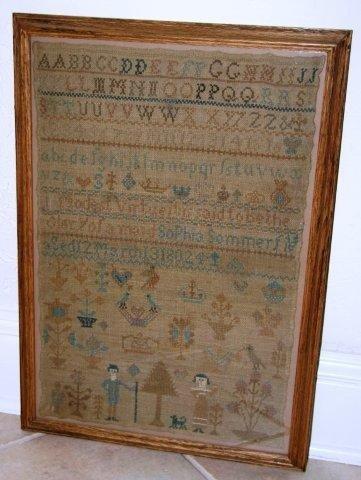 24:Geo III Alphabet Sampler dated 1802