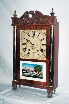 Whiting Drop Clock With Eagle