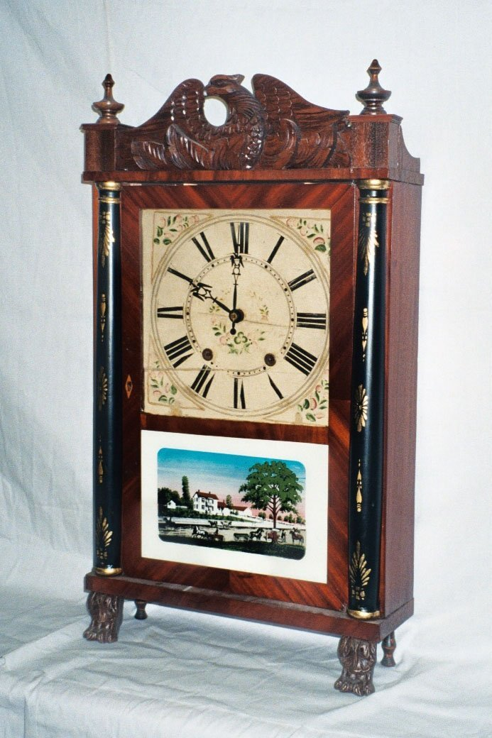 4: Whiting Drop Clock with Eagle